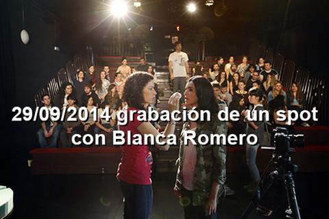29/09/2014 Blanca Romero graba una promo